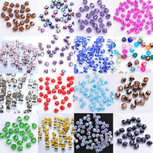 50/100X 6mm Faceted Glass Crystal Oval Solid Bicone Spacer Beads Jewelry Making