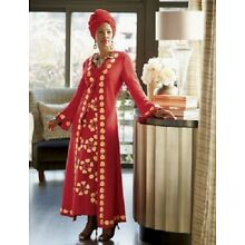 Tadita Jacket Dress Ashro Red Ethnic African American Pride Red Gold Size 6 8
