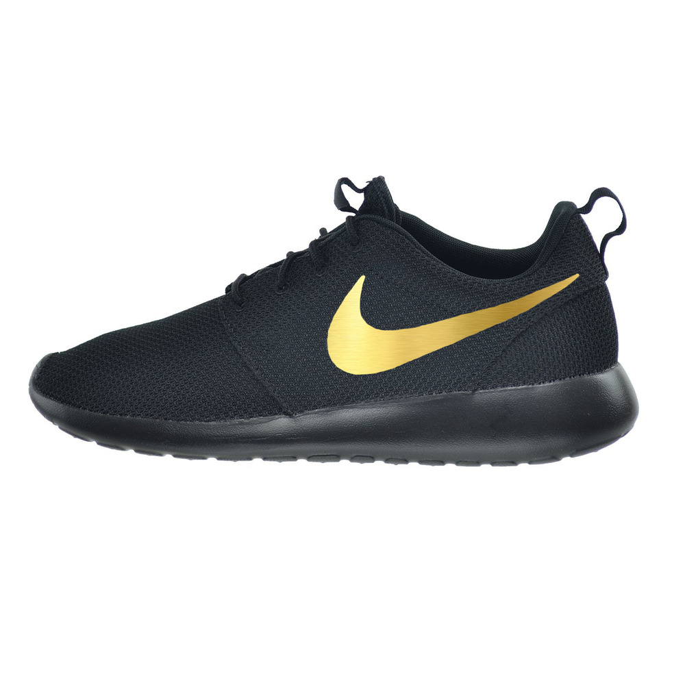 Details about custom nike roshe run sneakers with metallic gold swoosh jpg  1000x1000 Gold swoosh 86db91760a