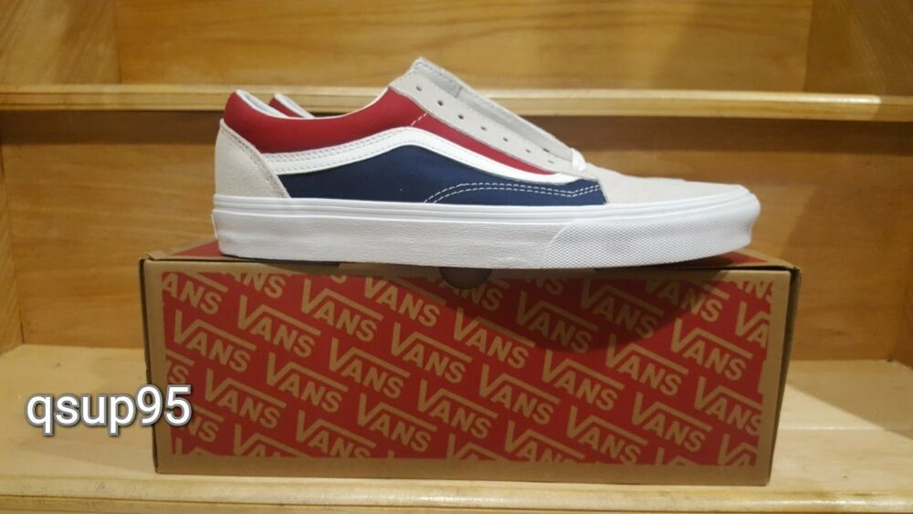 be7749610966 Details about Vans Old Skool Retro Block Color Beige Tan Blue Red Yacht  Club USA Men Size 4-13