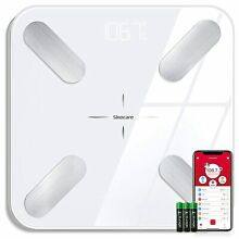 Bluetooth Body Fat Weight Scale 400 lb Electronic LCD Fitness Analyzer APP
