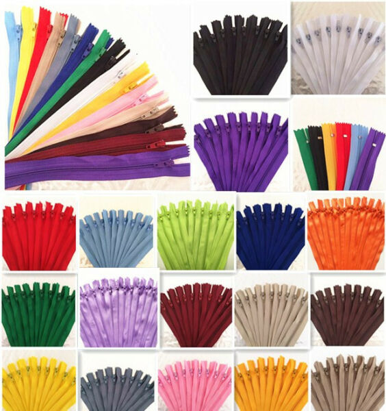 10pcs (5-20 Inch)  Nylon Coil Zippers Tailor Sewer Craft Crafter's &FGDQRS