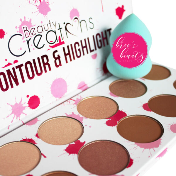 Beauty Creations Contour & Highlight Palette -10 Shades to Contour & Highlight