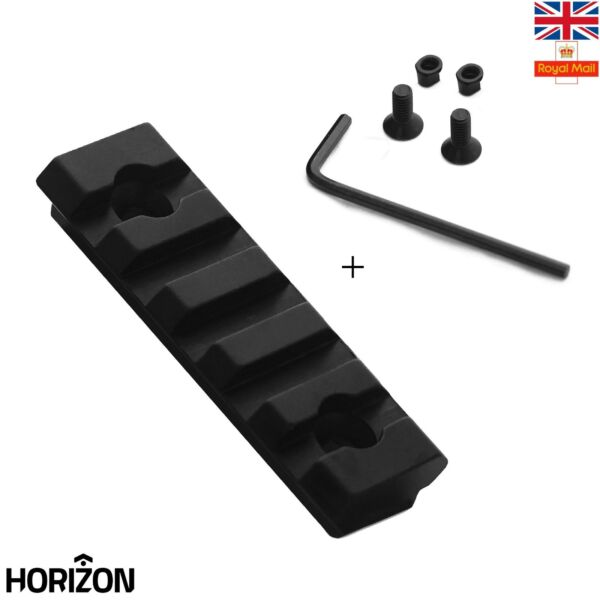 5 Slot Picatinny/Weaver Rail For Handguard Rail Section Aluminum 2 inch UK