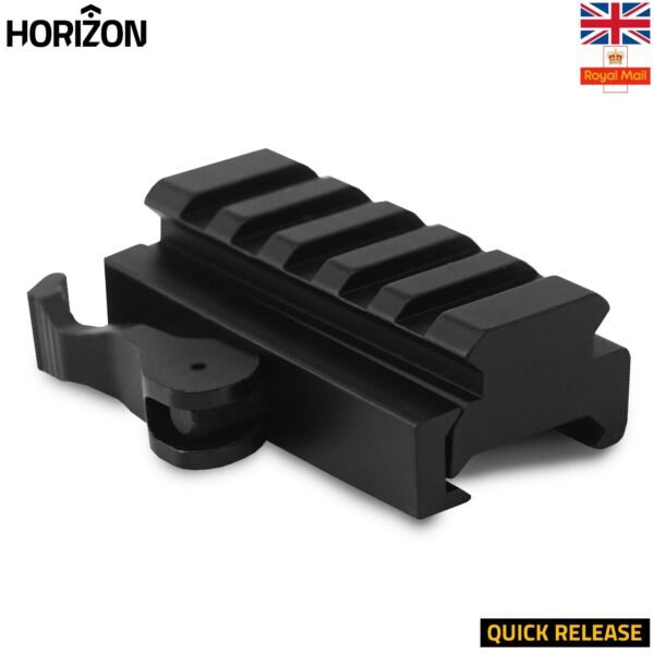 5 Slot Picatinny Weaver Rail Riser Mount Handguard Rail Quick Release 20mm UK