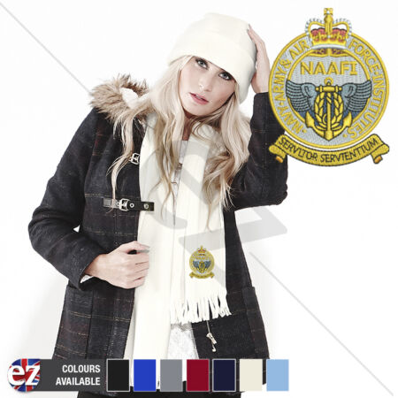 img-Navy Army Air Force Institutions - Scarf - and Embroidered Badge