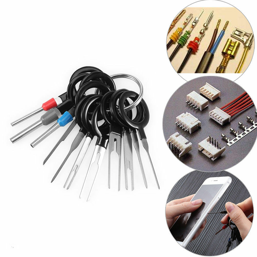 Automotive Connector Plug Pin Crimp Removal Terminal Tool Wiring Jack With Type To Color Cord Cable And Depin Tang Tab