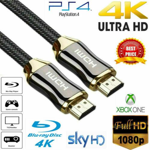 ULTRICS 4K HDMI Cable 2.0 High Speed Gold Plated Braided Lead 2160p 3D HDTV UHD