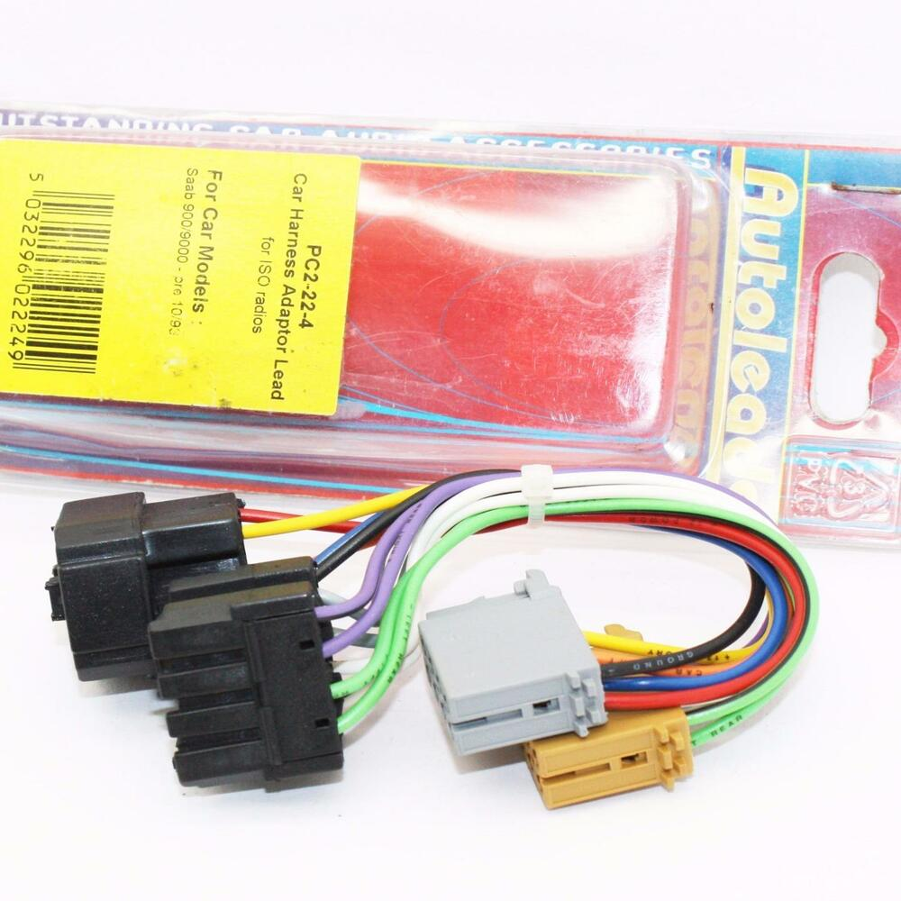 Autoleads Pc2 22 4 Saab 900 Or 9000 Iso Wiring Harness Adaptor Leads 1985 Pc2224 5032296022249 Ebay