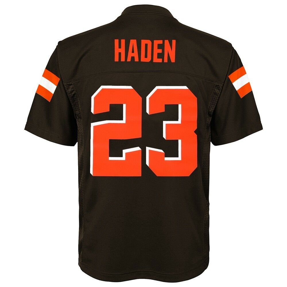 Top Joe Haden NFL Cleveland Browns Mid Tier Home Brown Replica Jersey