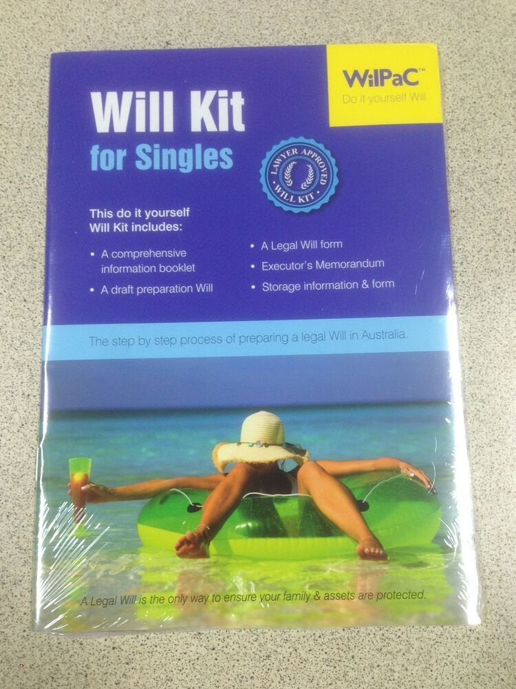 Wilpac australian will kit for singles lawyer approved rrp 1995 ebay solutioingenieria Choice Image
