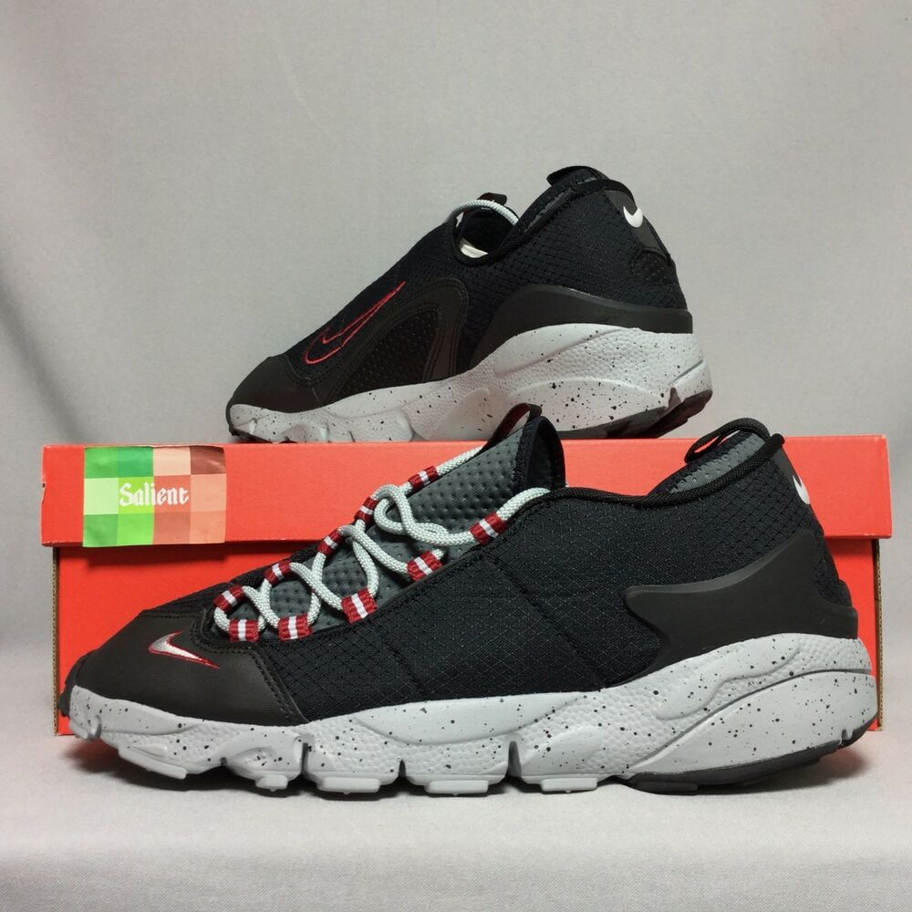 b457c97954c1 Details about Nike Air Footscape NM UK10 852629-001 EUR45 US11 Black Wolf  Grey Red bred