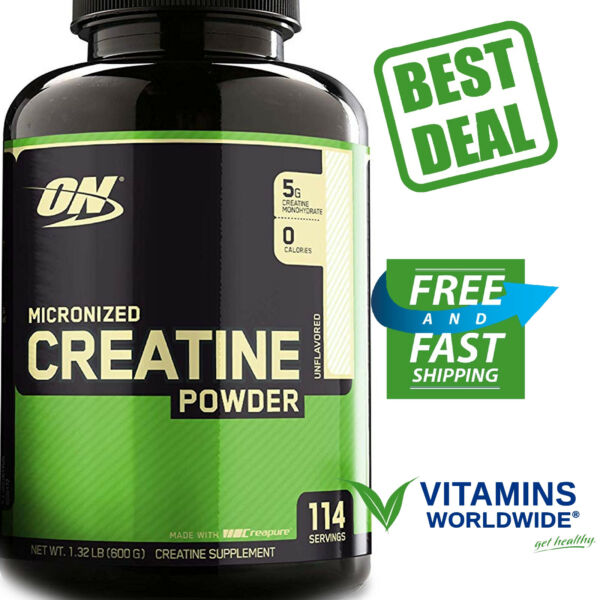 OPTIMUM NUTRITION MICRONIZED CREATINE Monohydrate Powder Unflavored Supplement