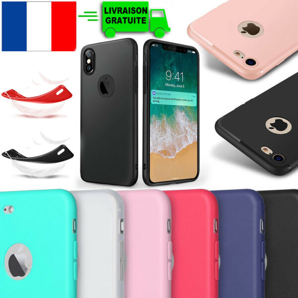 Coque TPU Ultra Slim Housse Etui Protection iPhone 8 7 6 6S PLUS 5S X XR XS Max