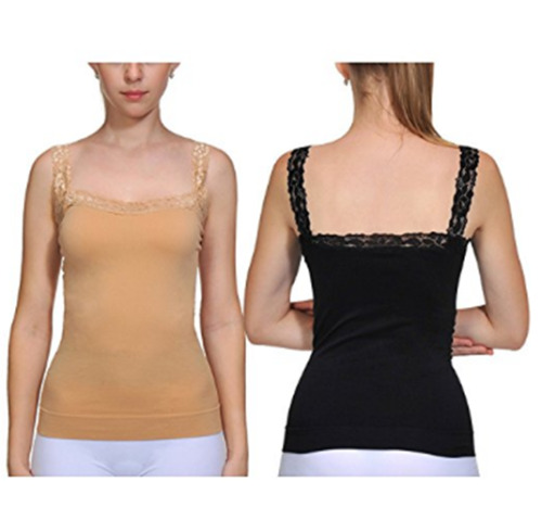 Womens Camisole Tank Top Sexy Lace Straps Lingerie Sleep Lounge Cami Top 2 Packs