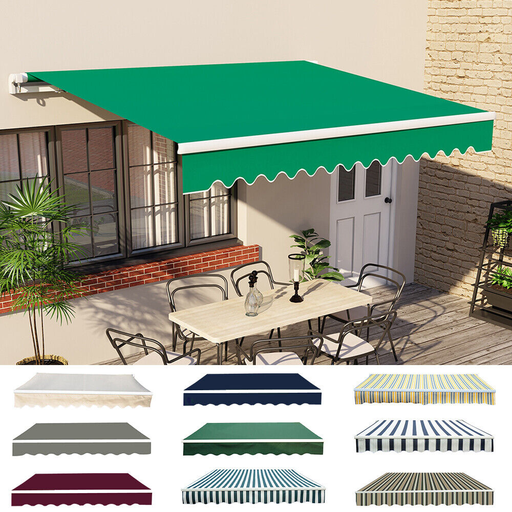 Patio DIY Manual Awning Garden Canopy Sun Shade