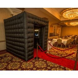 Kyпить Black Inflatable 7.8ft Cube Photo Booth Tent 2 Doors Photobooth with Door Covers на еВаy.соm