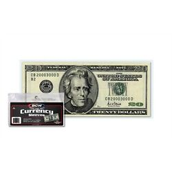 Kyпить (100) US Currency Paper Money Bill Protector Sleeves for Regular Bills by BCW на еВаy.соm