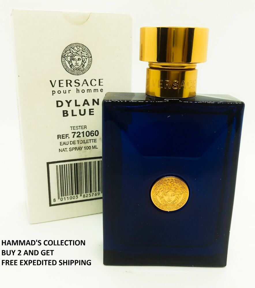 Details about VERSACE POUR HOMME DYLAN BLUE EDT 3.4 OZ FOR MEN WITH CAP  (BRAND NEW TESTER) 388e983c102