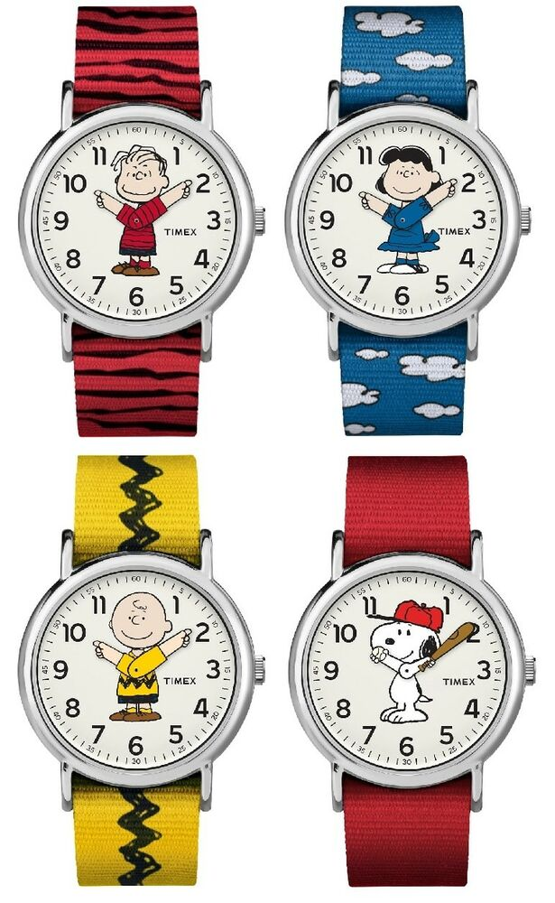 Timex weekender peanuts nylon strap watch charlie brown linus lucy snoopy ebay for Snoopy watches