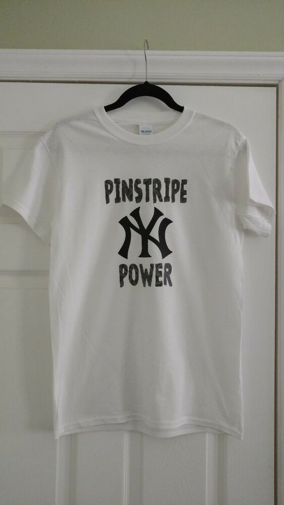 New York Yankees Pinstripe Power T Shirt Size Xl Free Shipping