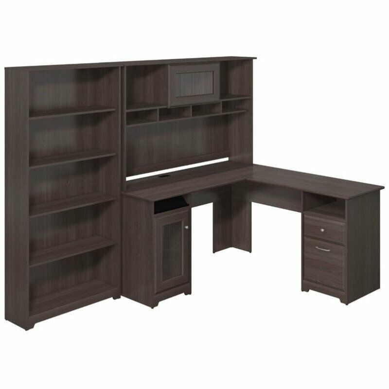 Pemberly Row 60 Quot L Shape Desk With Hutch And 5 Shelf
