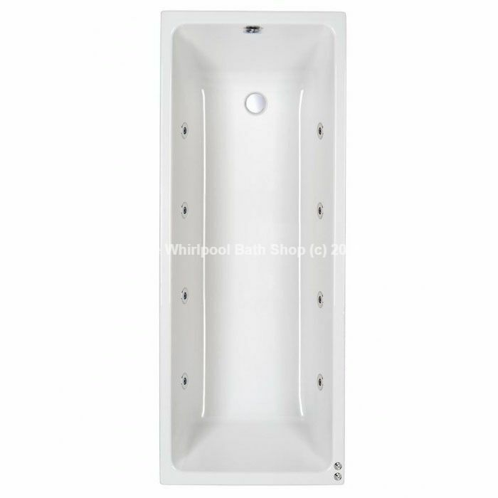 Carron Quantum Single Ended 8 Jet Whirlpool Jacuzzi Bath | 8 Sizes ...