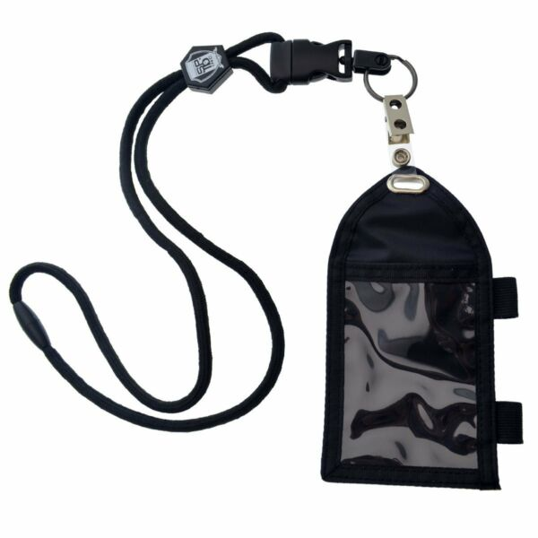 Specialist ID Nylon Badge Holder with Pen Loop Key Ring and Heavy Duty Lanyard
