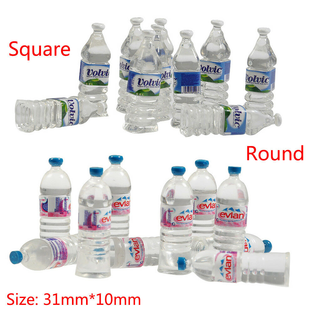 Details about 10x mini mineral water bottle w stickers for rc cars toy trx 4 scx10 d90 wraith