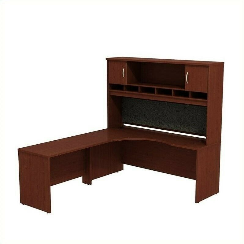 Details About Scranton Co 72w X 24d Lh Corner Desk With Hutch In Mahogany