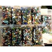 Lampwork Glass and glass Beads, Mixed Color, Assorted Style 1/2 Pound Lot