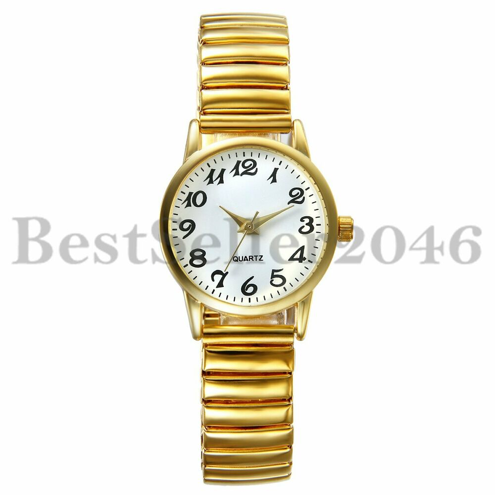 943bfed8bc21 Details about Fashion Womens Ladies Gold Stainless Steel Round Dial Quartz  Analog Wrist Watch