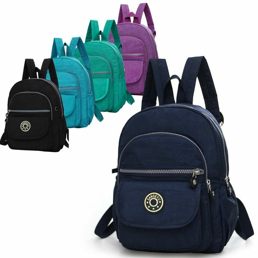 19550b8f81a9 Details about Mini Backpack Purse Nylon Small Backpack Shoulder Rucksack Bag  for Women Girls
