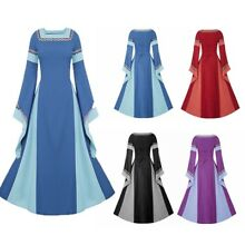 Christmas Gift Medieval Women Vintage Renaissance Queen Costume Party Full Dress