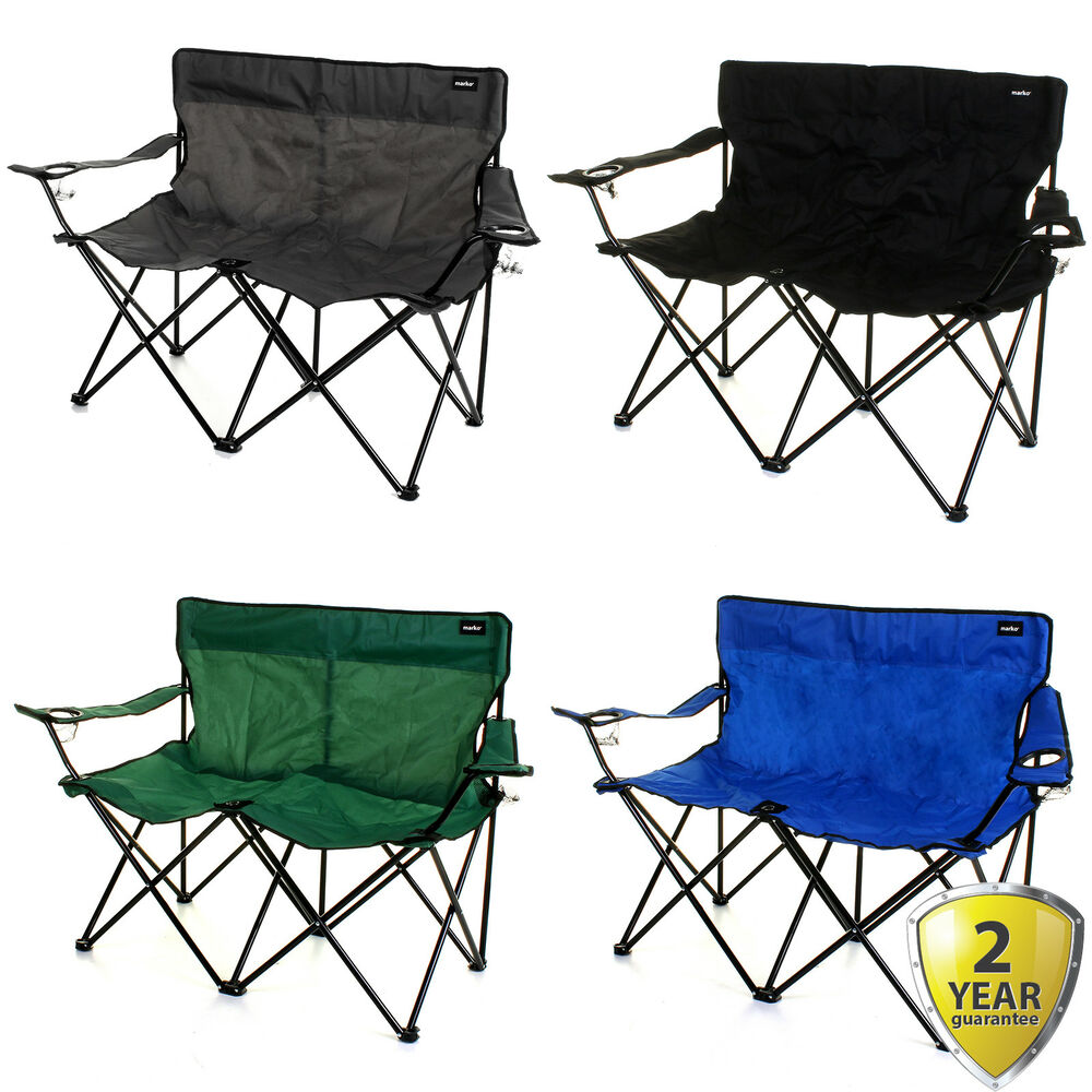 2 Seater Double Camping Chair Outdoor Folding Lightweight