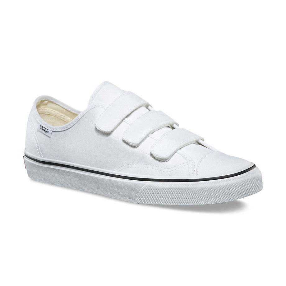 166c2227d32 Details about Vans 3 Straps Style 23 V Canvas True White Mens Womens Shoes  Sneakers All Sizes