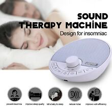 White Noise Machine Therapy Sleep Relaxation Night Sleeping Aid 8 Relax Sounds