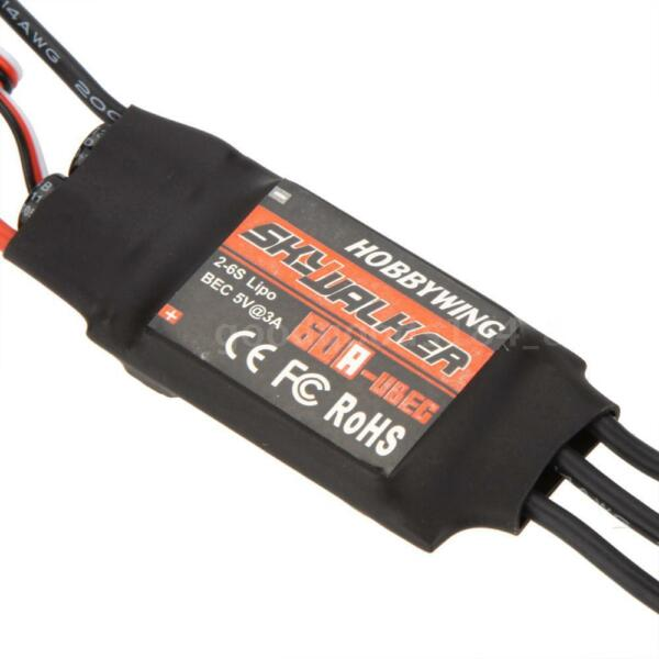 New Hobbywing SkyWalker 60A Brushless ESC Speed Controller With UBEC S5M3