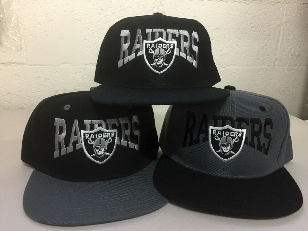 4d6503f05ce Details about Oakland Raiders Writing Snap Back Cap Hat Embroidered Las  Vegas Flat Bill Men. Popular Item