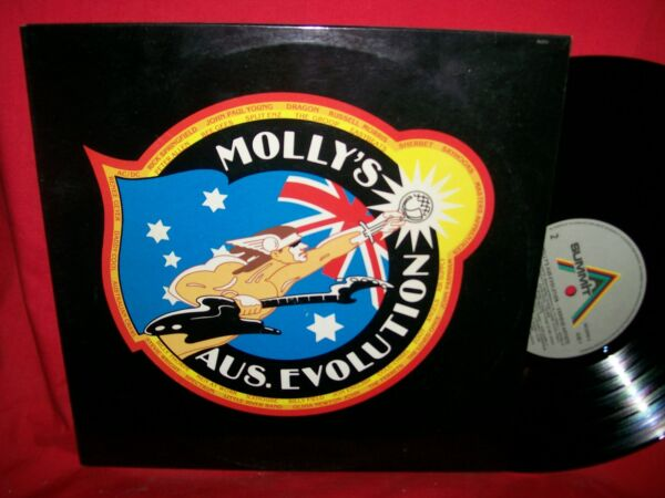 MOLLY'S AUS-EVOLUTION Double LP AUSTRALIA 1982 MINT- AC/DC Bee Gees Zoot Dragon