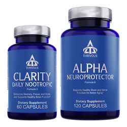 Thrivous Clarity and Alpha Stack: Memory Anti-Aging Nootropic Brain Supplements