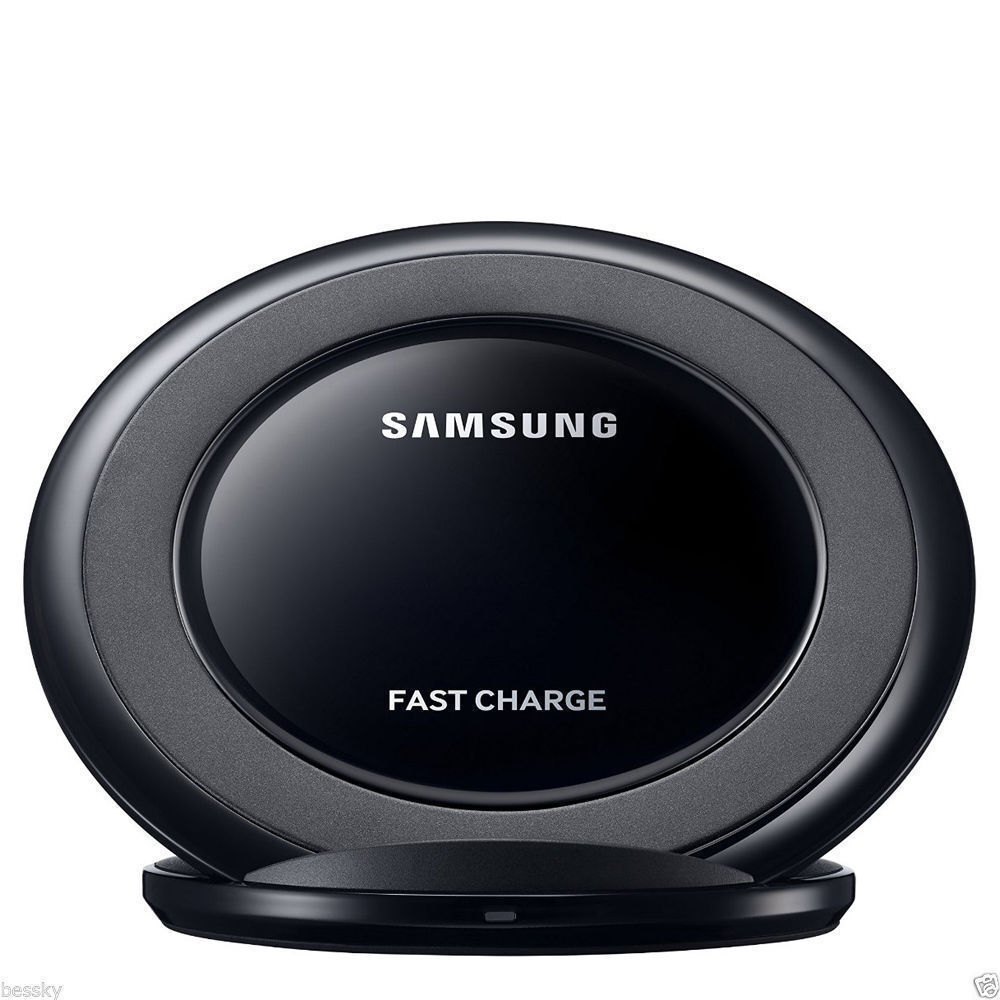 original samsung galaxy s7 edge s8 s9 plus note 8 5 fast qi wireless charger pad ebay. Black Bedroom Furniture Sets. Home Design Ideas