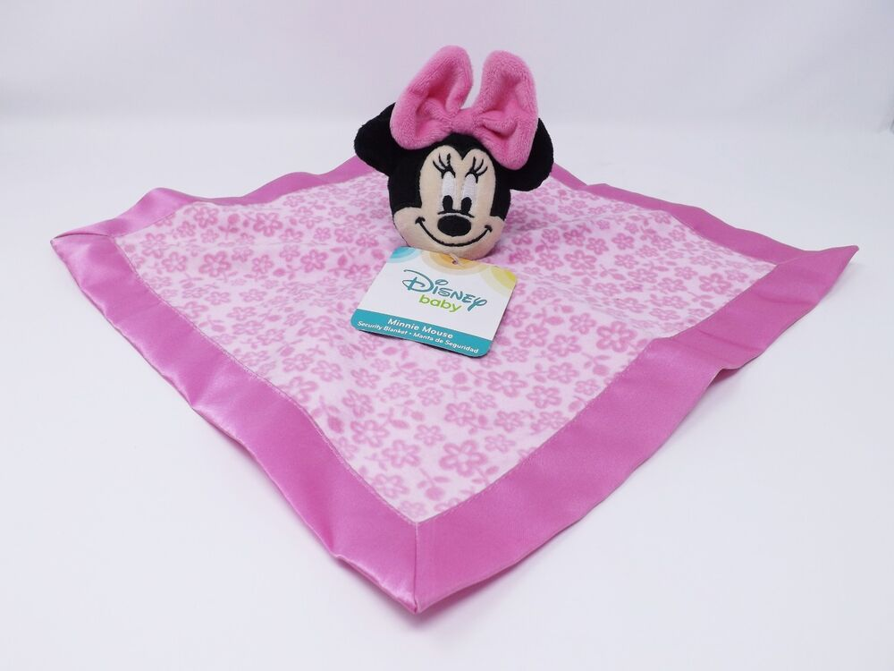Disney Baby Minnie Mouse Pink Security Blanket Snuggle