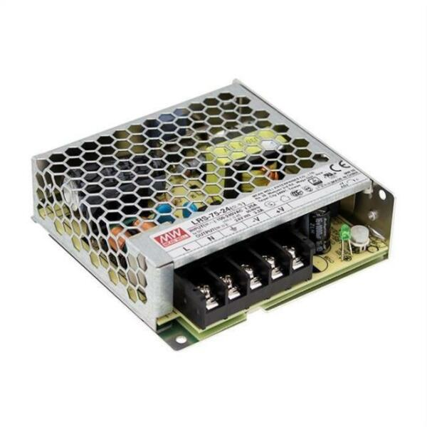 ALIMENTATORE MEAN WELL LRS-75-24 24VDC 3,2A LRS7524 MEANWELL POWER SUPPLY LED