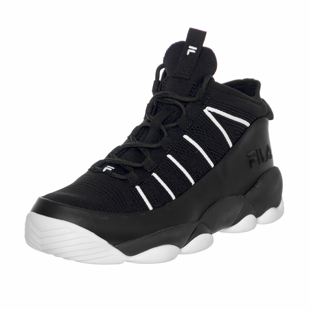 6a45c16fcf1d Details about NEW MEN S FILA CLASSIC LIMITED EDITION SPAGHETTI KNIT BLACK  BASKETBALL SNEAKERS