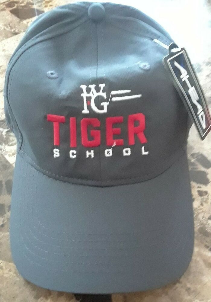 97b9c59d74a6c Details about NEW WFG Tiger School Golf Hat Baseball Cap Gray Ahead World  Financial Group Hat