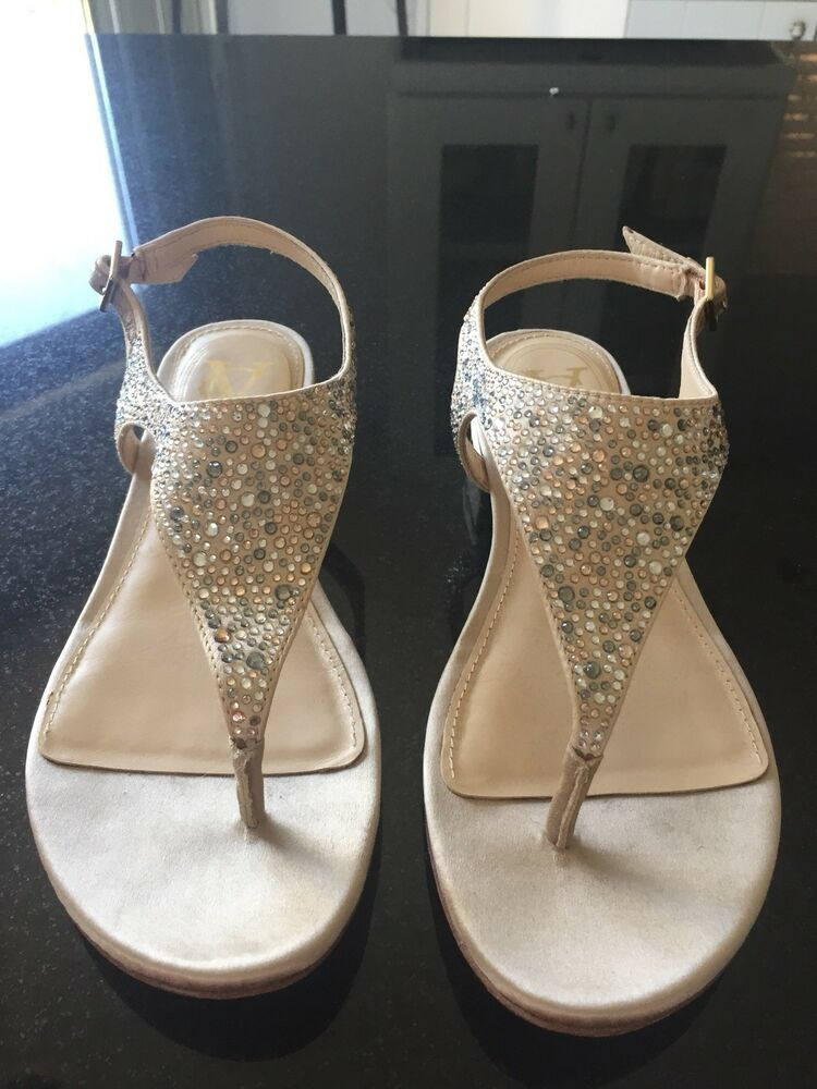 12969335e4f4b2 Details about Brand new Vince Camuto Women s rhinestone sandals Size 6-no  box