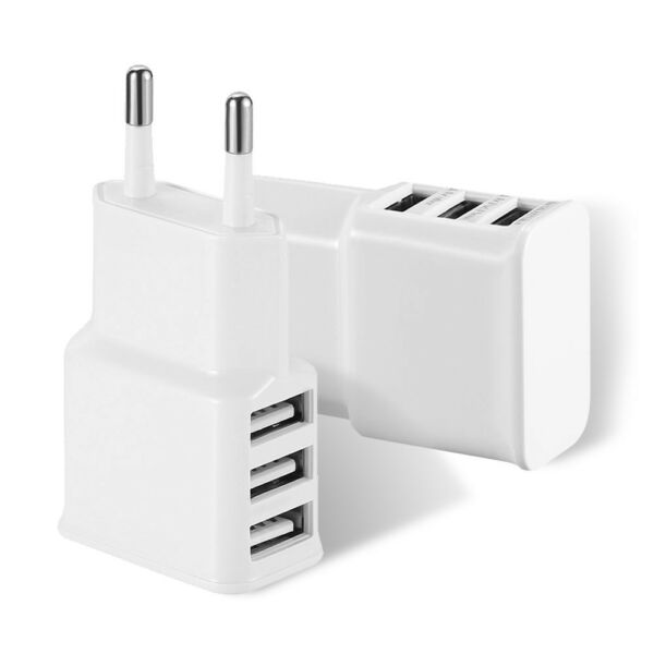 CHARGEUR USB 3 PORTS PRISE ADAPTATEUR POUR IPHONE 6/7/8/X SAMSUNG HUAWEI IPAD
