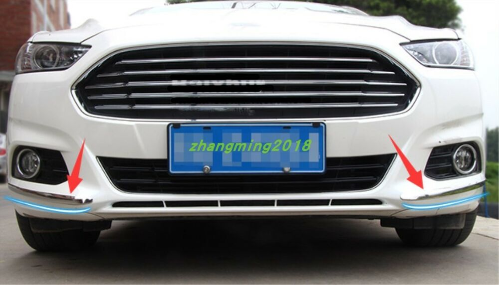 Stainless Front Bumper Anti Rub Strips Trim For Ford