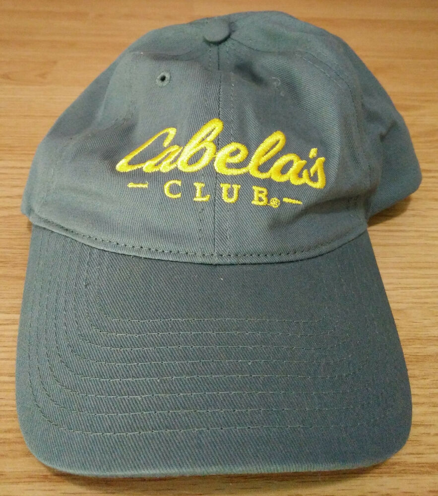 f2e192ec6d1a7 Details about Cabelas Club Ball Cap Embroidered Logo Dad Hat Adjustable  Strapback Outdoor Grey